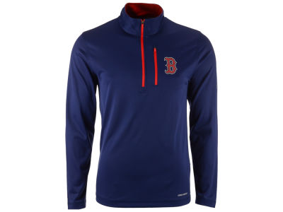 Boston Red Sox Majestic MLB Men's Six-Four-Three 1/2 Zip Pullover