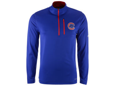 Chicago Cubs Majestic MLB Men's Six-Four-Three 1/2 Zip Pullover