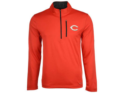 Cincinnati Reds Majestic MLB Men's Six-Four-Three 1/2 Zip Pullover