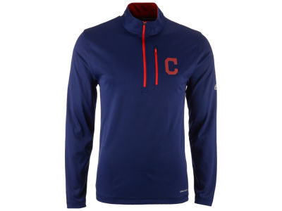 Cleveland Indians Majestic MLB Men's Six-Four-Three 1/2 Zip Pullover