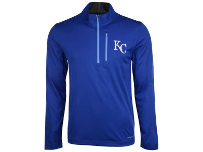 Kansas City Royals Majestic MLB Men's Six-Four-Three 1/2 Zip Pullover