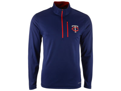 Minnesota Twins Majestic MLB Men's Six-Four-Three 1/2 Zip Pullover