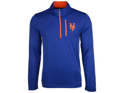 New York Mets Majestic MLB Men's Six-Four-Three 1/2 Zip Pullover