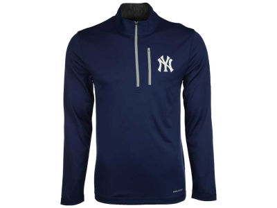 New York Yankees Majestic MLB Men's Six-Four-Three 1/2 Zip Pullover