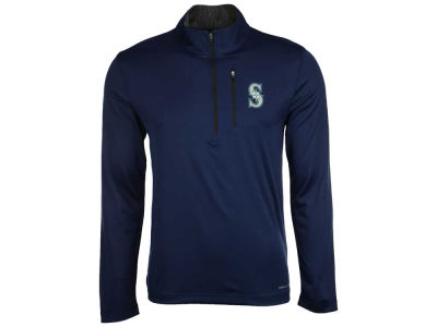 Seattle Mariners Majestic MLB Men's Six-Four-Three 1/2 Zip Pullover