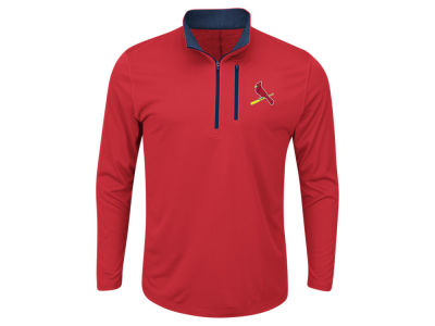 St. Louis Cardinals Majestic MLB Men's Six-Four-Three 1/2 Zip Pullover