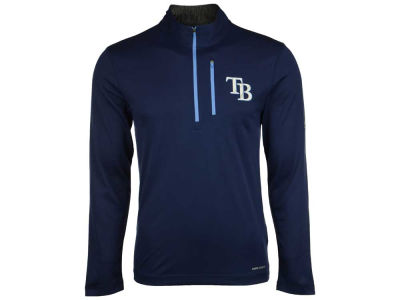 Tampa Bay Rays Majestic MLB Men's Six-Four-Three 1/2 Zip Pullover