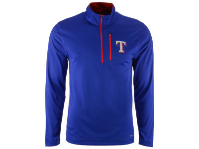 Texas Rangers Majestic MLB Men's Six-Four-Three 1/2 Zip Pullover