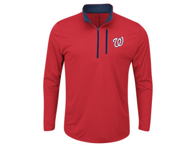 Washington Nationals Majestic MLB Men's Six-Four-Three 1/2 Zip Pullover
