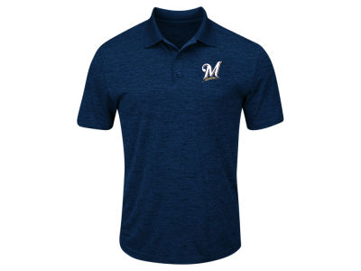 Milwaukee Brewers Majestic MLB Men's First Hit Polo