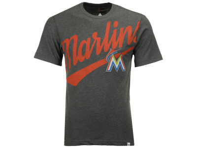 Miami Marlins Majestic MLB Men's Super Script T-Shirt