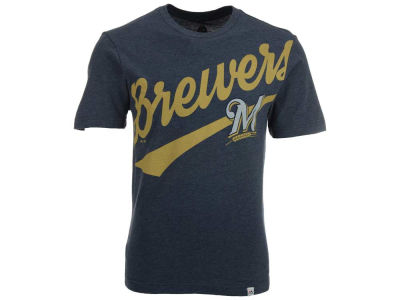 Milwaukee Brewers Majestic MLB Men's Super Script T-Shirt