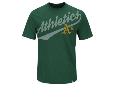 Oakland Athletics Majestic MLB Men's Super Script T-Shirt