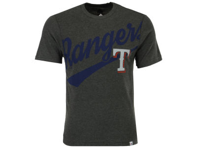 Texas Rangers Majestic MLB Men's Super Script T-Shirt
