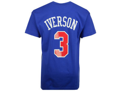 Philadelphia 76ers Allen Iverson Mitchell and Ness NBA Men's Hardwood Classic Player T-Shirt
