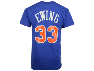 New York Knicks Patrick Ewing Mitchell and Ness NBA Men's Hardwood Classic Player T-Shirt