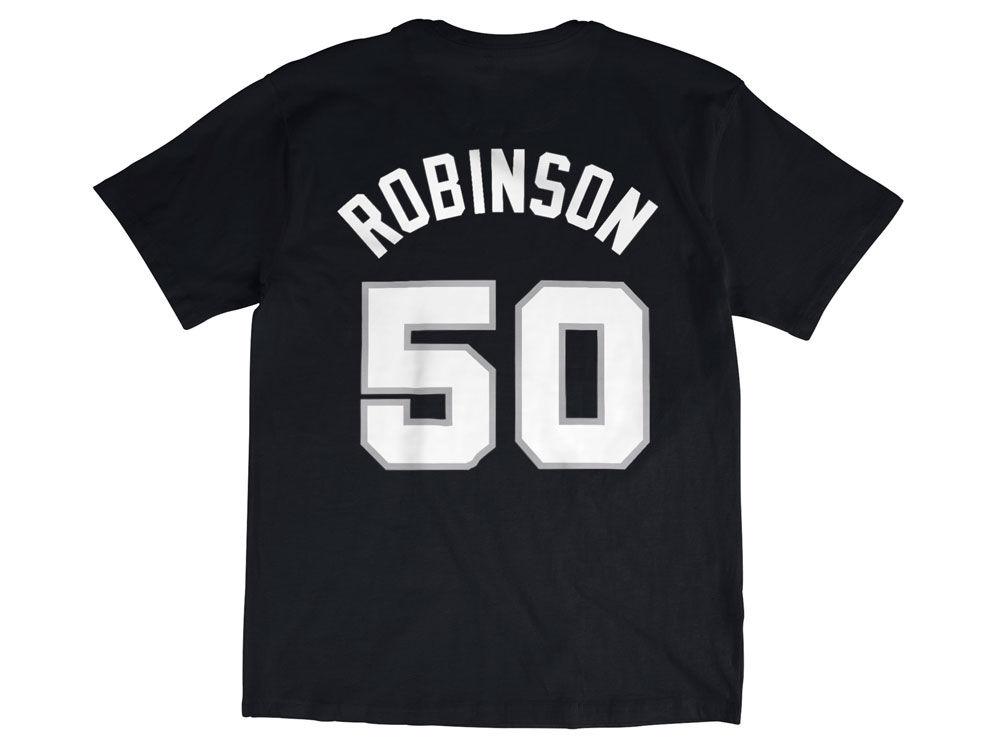 2018f12487f ... jersey 44066 529df  wholesale san antonio spurs david robinson mitchell  ness nba mens hardwood classic player t shirt 0ace0