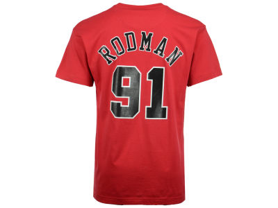 Chicago Bulls Dennis Rodman Mitchell & Ness NBA Men's Hardwood Classic Player T-Shirt