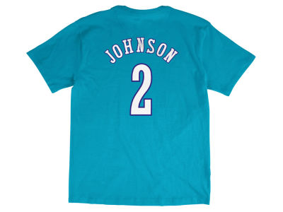 Charlotte Hornets Larry Johnson Mitchell and Ness NBA Men's Hardwood Classic Player T-Shirt