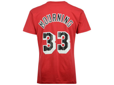 Miami Heat Alonzo Mourning Mitchell and Ness NBA Men's Hardwood Classic Player T-Shirt