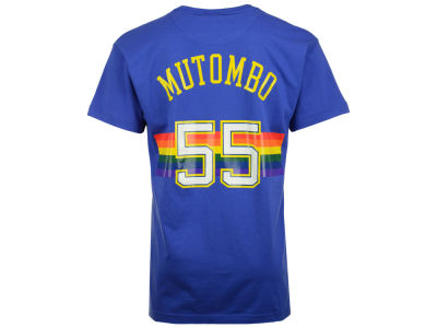Denver Nuggets Dikembe Mutombo Mitchell and Ness NBA Men's Hardwood Classic Player T-Shirt