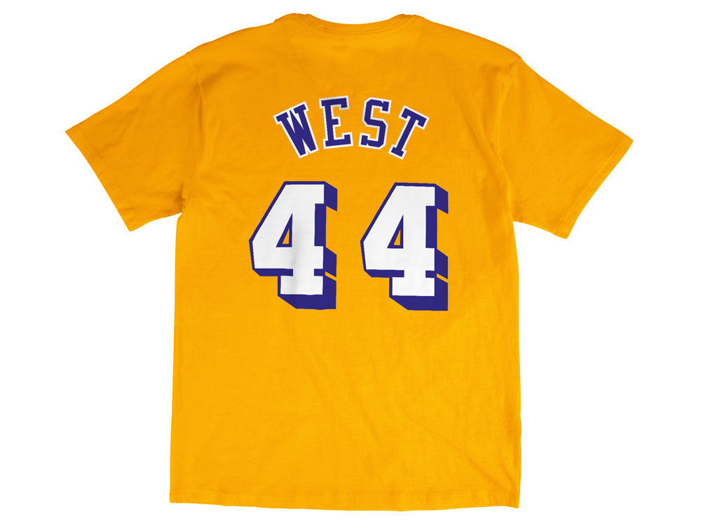Los Angeles Lakers Jerry West Mitchell   Ness NBA Men s Hardwood Classic  Player T-Shirt  b296b9859