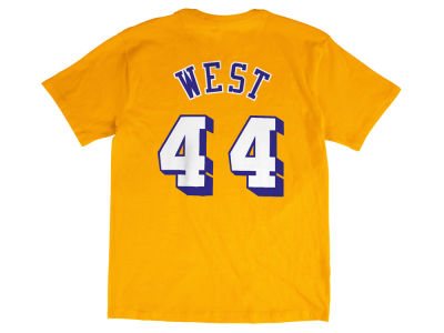 Los Angeles Lakers Jerry West Mitchell and Ness NBA Men's Hardwood Classic Player T-Shirt