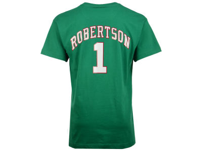 Milwaukee Bucks Oscar Robertson Mitchell and Ness NBA Men's Hardwood Classic Player T-Shirt
