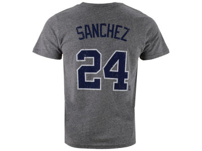 New York Yankees Gary Sanchez Majestic MLB Men's Triblend Jersey Player T-Shirt