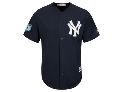 New York Yankees Majestic MLB Men's Spring Training Patch Replica Cool Base Jersey