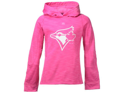 Toronto Blue Jays Majestic MLB Youth Girls Logo Streak Hoodie