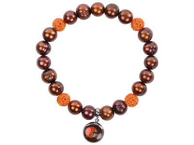 Cleveland Browns Honora Bracelet with Sparkle Beads and Charm