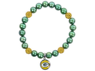 Green Bay Packers Honora Bracelet with Sparkle Beads and Charm