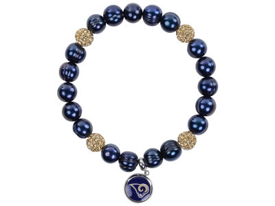 Los Angeles Rams Honora Bracelet with Sparkle Beads and Charm