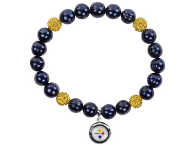 Pittsburgh Steelers Honora Bracelet with Sparkle Beads and Charm