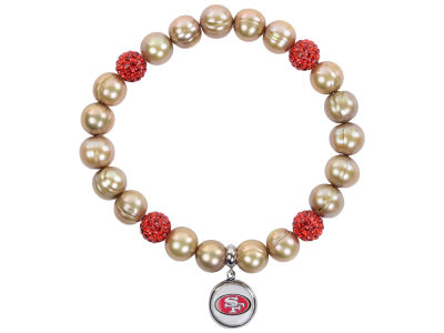San Francisco 49ers Honora Bracelet with Sparkle Beads and Charm