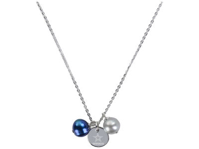 Dallas Cowboys Honora Necklace with Pearl Beads and Charm