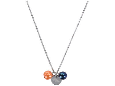 Denver Broncos Honora Necklace with Pearl Beads