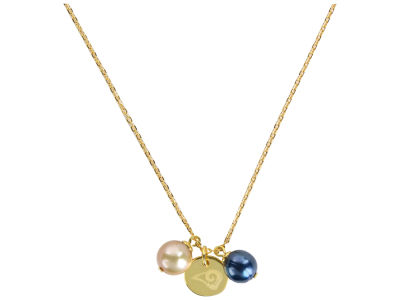 Los Angeles Rams Honora Necklace with Pearl Beads