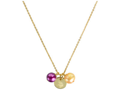 Minnesota Vikings Honora Necklace with Pearl Beads and Charm