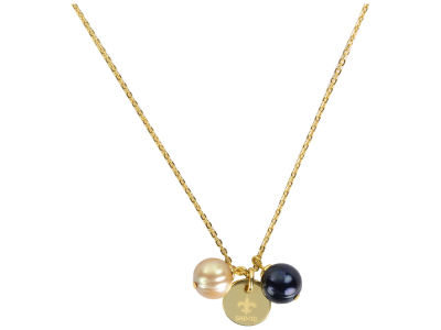 New Orleans Saints Honora Necklace with Pearl Beads