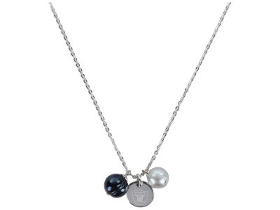 Oakland Raiders Honora Necklace with Pearl Beads and Charm