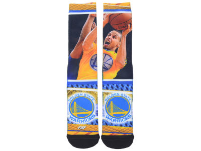 Golden State Warriors Stephen Curry NBA Youth Hard Play 2 Crew Sock
