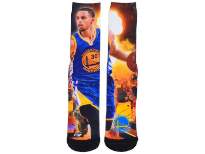 Golden State Warriors Stephen Curry NBA Youth Starting Line Up Crew Socks