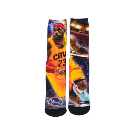 Cleveland Cavaliers LeBron James For Bare Feet NBA Youth Starting Line Up Crew Socks