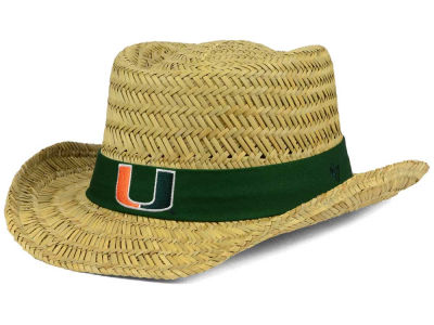 Miami Hurricanes '47 NCAA Natural Bogie Straw Hat