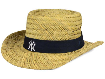 New York Yankees '47 MLB Natural Bogie Straw Hat