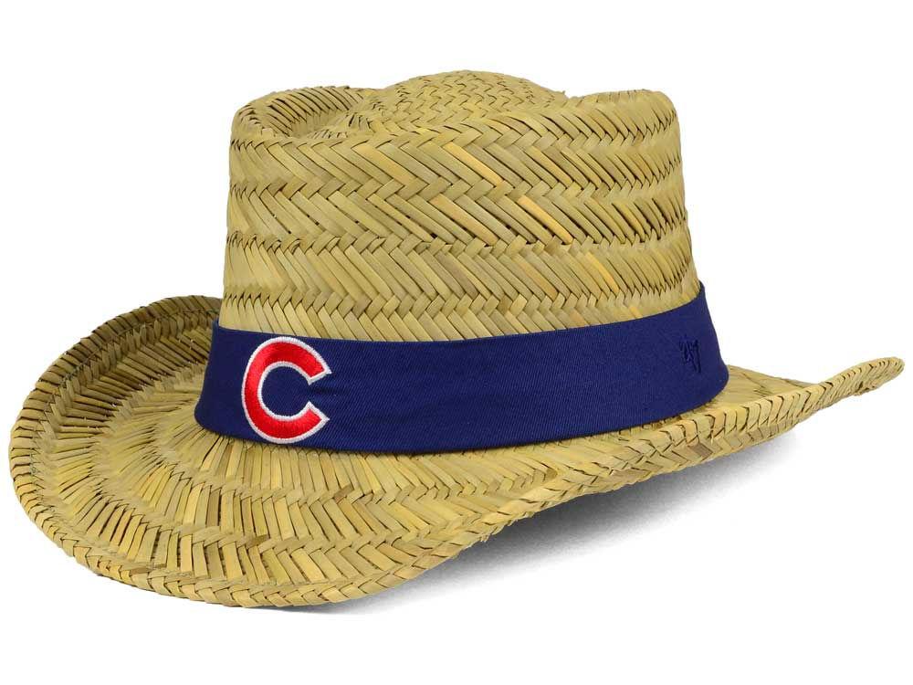 Chicago Cubs  47 MLB Natural Bogie Straw Hat  b60d5e0f4f2