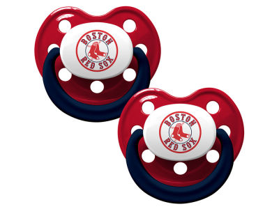 Boston Red Sox AC DC 2-pack Pacifier Set