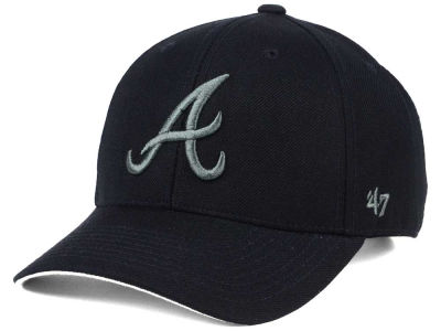 Atlanta Braves '47 MLB '47 MVP Black and Charcoal Cap